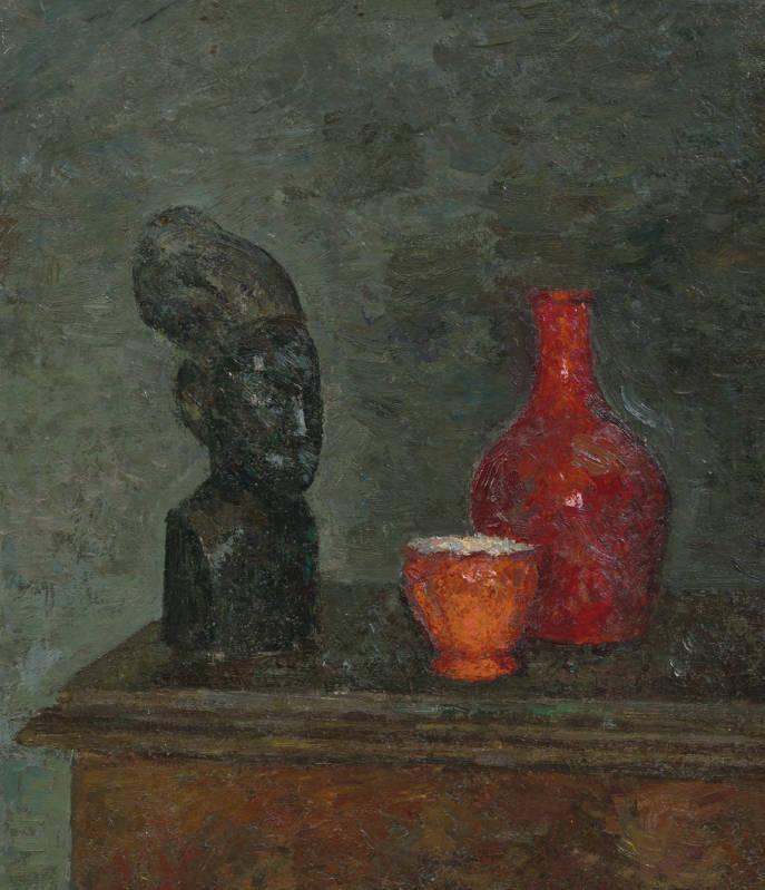 ROBERT FALK. Still-Life with African Sculpture. 1944