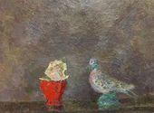 ROBERT FALK. Dove and a Rose. (Requiem). 1948–1950