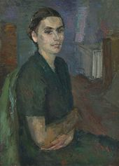 Robert FALK. Portrait of Wife at the Workshop. 1939–1940
