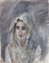 ROBERT FALK. In a White Shawl (A.V. Shchekin-Krotova). 1945