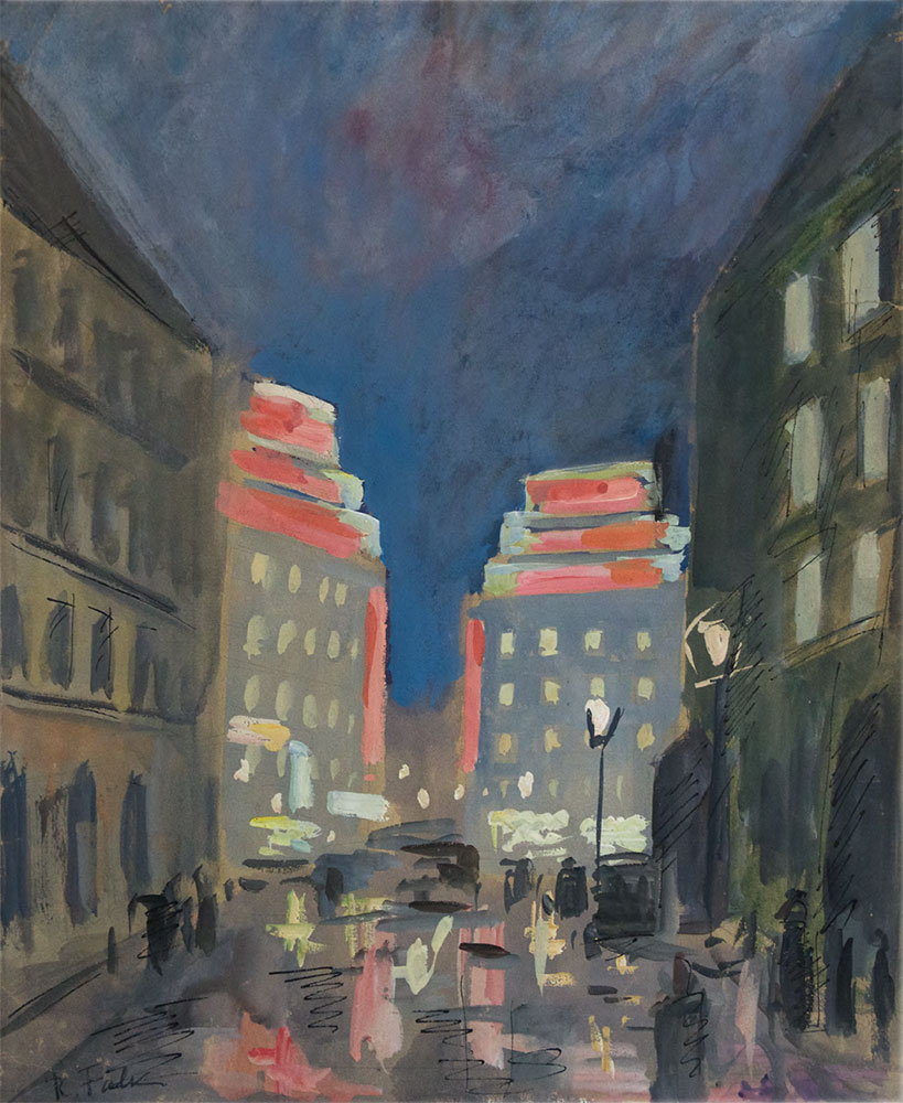 ROBERT FALK. Night in Paris. 1930s