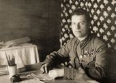 Andrei Yumashev during the war years (deputy commander of the 3rd Air Army). 1942