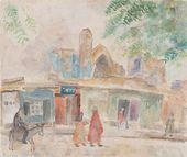 ROBERT FALK. A Street in Samarkand with Bibi-Khanym in the Background. 1943