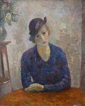 ROBERT FALK. Lady in a Hat. (Portrait of Maria Petrovna Perevoshchikova). 1935