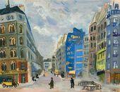 ROBERT FALK. A Paris Street. 1930s