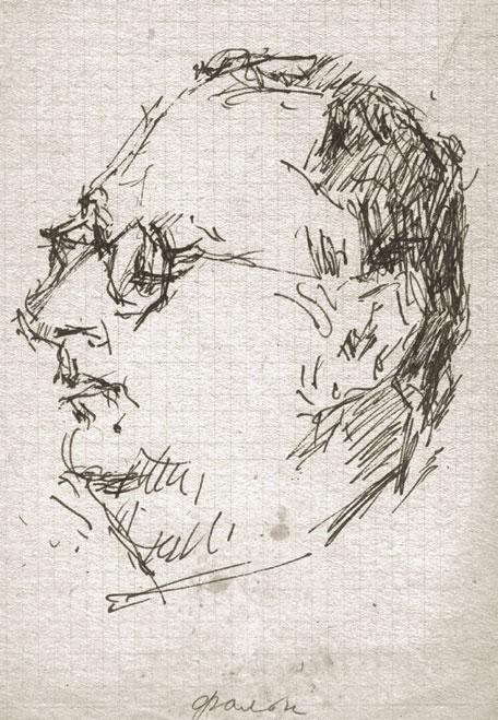 ANDREI YUMASHEV. Portrait of Robert Falk. 1950