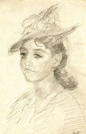 ROBERT FALK. Portrait of Tatiana Verkhovskaya. 1940