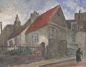 ROBERT FALK. House in Longjumeau, where Vladimir Lenin stayed in 1911. 1937