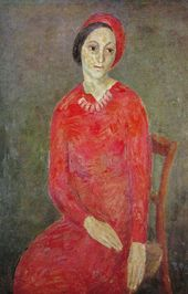 ROBERT FALK. Portrait of Lyubov Ehrenburg-Kozintseva. 1932–1934
