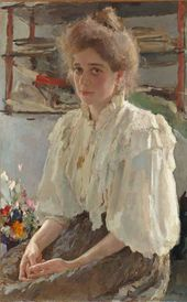 VALENTIN SEROV. Portrait of Maria Lvova. 1895