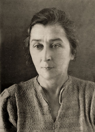 Eva Levina-Rozengolts. In exile in Podtesovo (Yeniseysky district of the Krasnoyarsk region). 1951