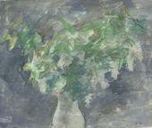 ROBERT FALK. Bird Cherry in a White Vase. Late 1940s