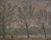 ROBERT FALK. Three Trees. Seine Embankment. 1936
