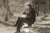 Robert Falk at work. 1938. Crimea