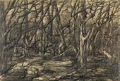 """EVA LEVINA-ROZENGOLTS. From the cycle """"Trees"""". Sheet 2. 1956-1957"""