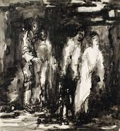 """EVA LEVINA-ROZENGOLTS. From the cycle """"People (Rembrandt series)"""" Sheet 42. 1960"""