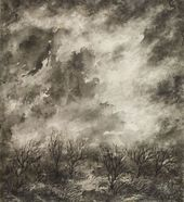 """EVA LEVINA-ROZENGOLTS. From the cycle """"Sky"""". Sheet 8 (""""The Clouds""""). 1961"""