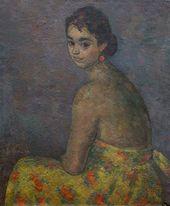 ROBERT FALK. Portrait of Olga Severtseva (left-side view). 1950–1951