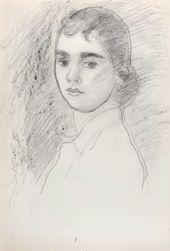 ROBERT FALK. Portrait of Olya Severtseva. 1950–1951