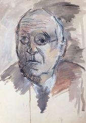 ROBERT FALK. Portrait of Aleksander Gabrichevsky. 1952