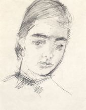 ROBERT FALK. Portrait of Olga Severtseva. 1951