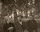 Angelina Shchekin-Krotova, Robert Falk and Natalya Shaposhnikova Abramtsevo. 1950s
