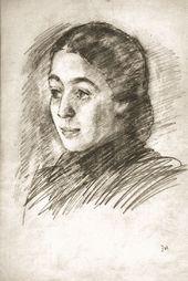 Robert FALK. Portrait of Zoya Kalatozova. 1952