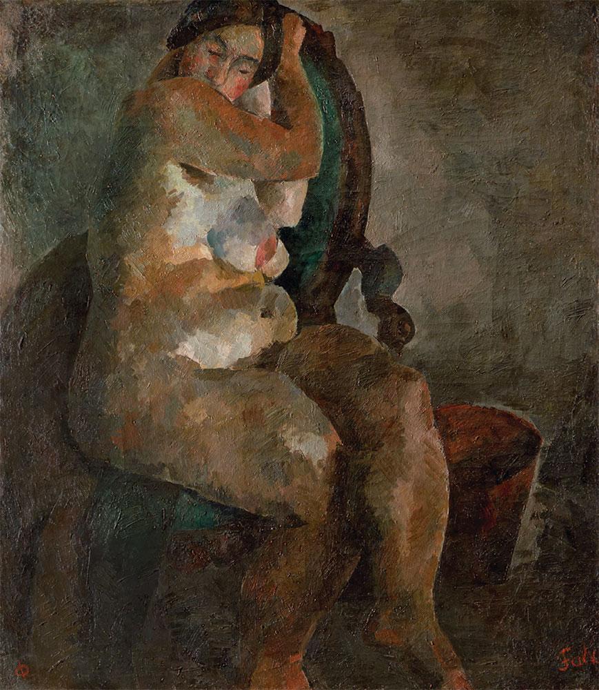 Р.Р. ФАЛЬК. Обнаженная в кресле. 1922–1923