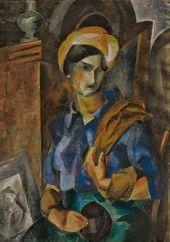 ROBERT FALK. Girl in a Head Wrap (Elizaveta Potekhina). 1914