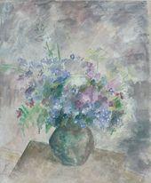 ROBERT FALK. Blue Bouquet. 1957