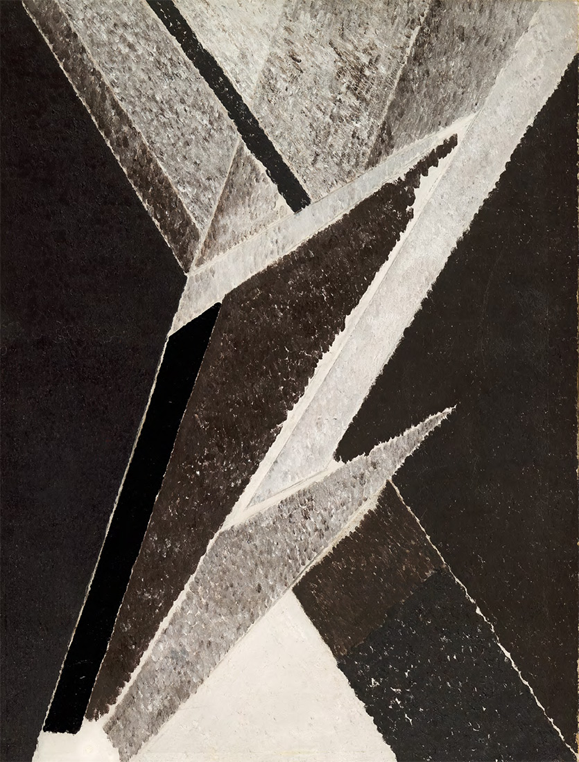 ALEXANDER DREVIN. Non-Objective Painting (Artistic Composition). 1921