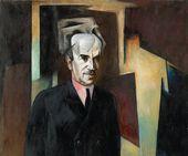 NIKOLAI DENISOVSKY. Portrait of David Shterenberg. 1923