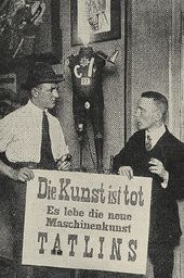 """George Grosz and John Heartfield demonstrate their rejection of art in favour of their """"Tatlinistic"""" theories. Berlin. 1920"""