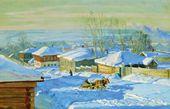 STANISLAV ZHUKOVSKY. Winter. 1915