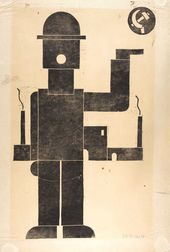 Franz SEIWERT. Composition No. 43. Worker. 1924