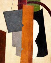 LJUBOW POPOWA. Malerische Architektonik mit gelbem Brett. 1916