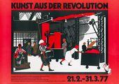 Plakat zur Ausstellung Kunst aus der Revolution: Sowjetische Kunst wдhrend der Phase der Kollektivierung und Industrialisierung, 1927–1933