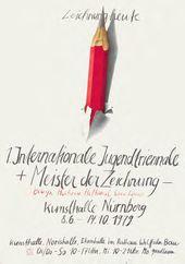 1. Internationale Jugendtriennale der Zeichnung, Titelseite des Katalogs, Nürnberg, 1979