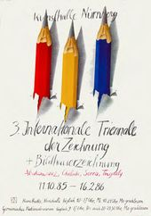 3. Internationale Triennale der Zeichnung, Titelseite des Katalogs, Nürnberg, 1985-1986