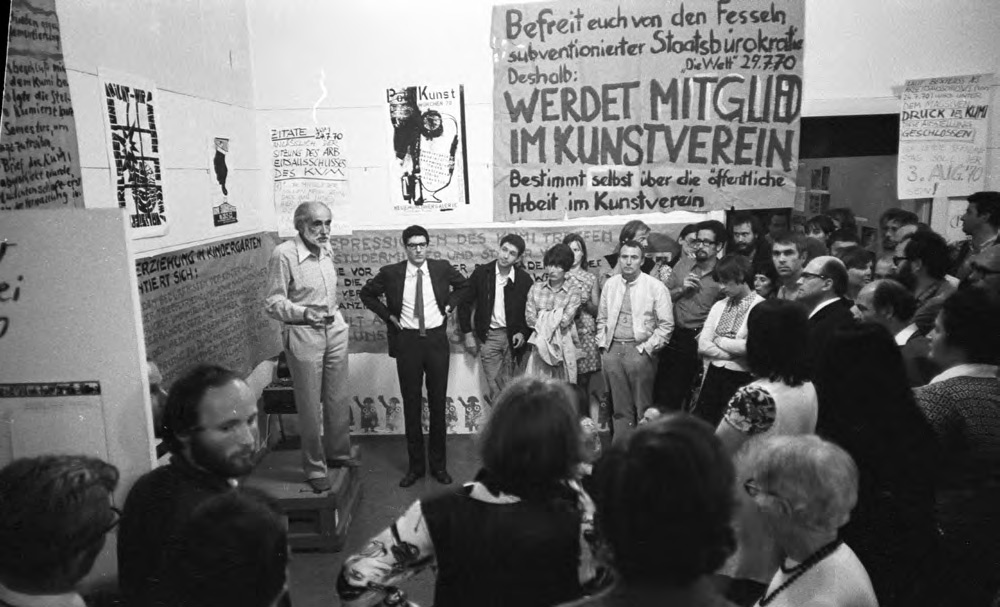 """Exhibition """"Poetry has to be made by everyone! Change the world!"""" Kunstverein München, 1970"""