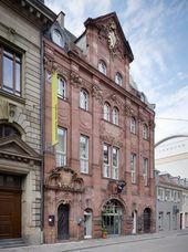 Façade of Badischer Kunstverein in Karlsruhe. 2011