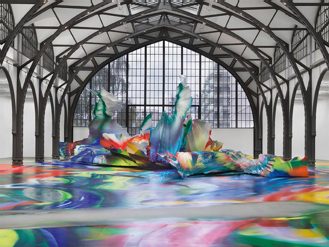 KATHARINA GROSSE. Exhibition view. It wasn't us. Hamburger Bahnhof - Museum für Gegenwart - Berlin. 2020