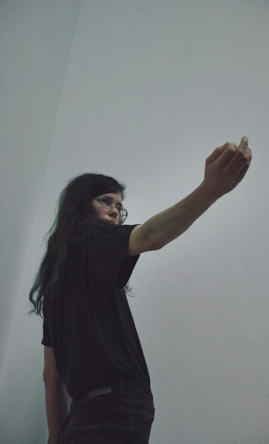 Eliza Douglas in Anne Imhof's Angst, performed at Kunsthalle Basel, 2016
