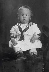 Igor Smirnov, the father of Natalya Nesterova, as a child. Photograph. About 1917