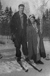 Igor Smirnov and Zoya Nesterova, the parents of Natalya Nesterova. 1940s