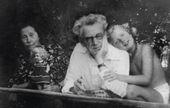 Zoya Vasilyevna and Dmitry Dmitrievich with Natalya Nesterova. Zvenigorod. 1950s