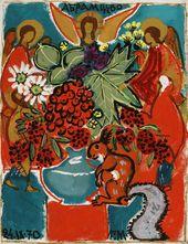Tatiana Mavrina. Squirrel singing songs. Abramtsevo. 1970