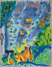 Tatiana Mavrina. Morning. Birch Tree Window. 1993