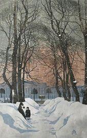 Anna Ostroumova-Lebedeva. St. Petersburg. The Summer Garden. 1902