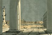 Anna Ostroumova-Lebedeva. St. Petersburg. Neva through the Columns of the Stock Exchange. 1908